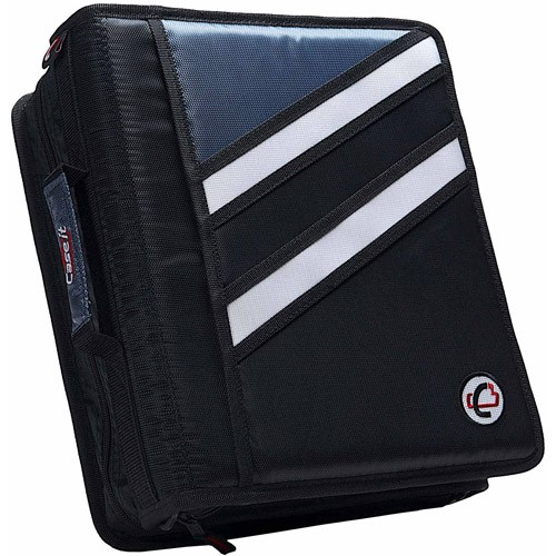 Case-It Z Binder Two-in-One 1.5-Inch D-Ring Zipper Binder, Black, Z-176-BK