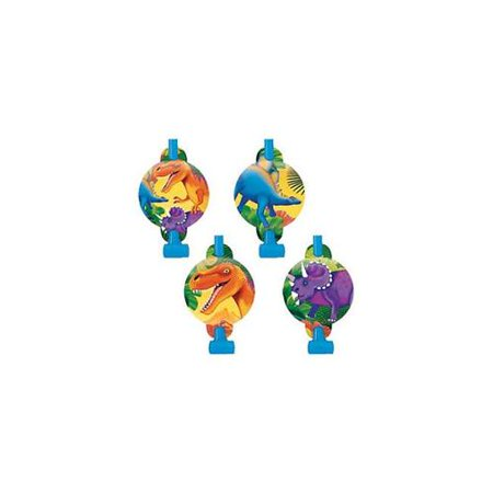 Dinosaur Prehistoric Party Blowouts/ Favors (8ct) - Prehistoric Party Supplies