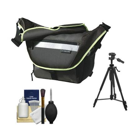 Vanguard Sydney 22 Messenger Digital SLR Camera Bag/Case (Olive) + Tripod Kit for Canon, Nikon, Olympus, Panasonic, Fuji & Sony Alpha Cameras