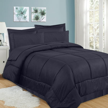 8 Piece Bed In A Bag Greek Key Comforter Sheet Bed Skirt Sham - Full Comforter Sheets 8 Piece