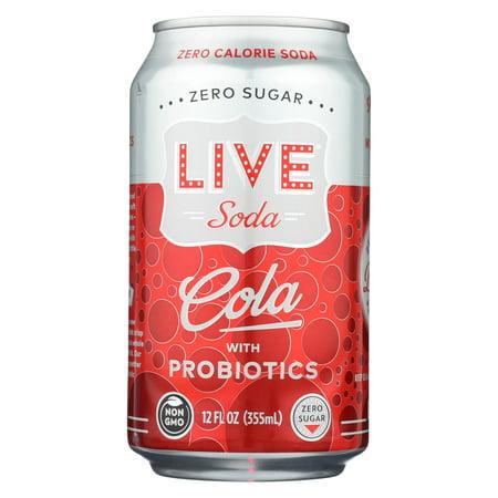 Live Soda - Soda Cola Probiotic - Case of 4-6/12 fl oz. (Live Soda Kombucha)