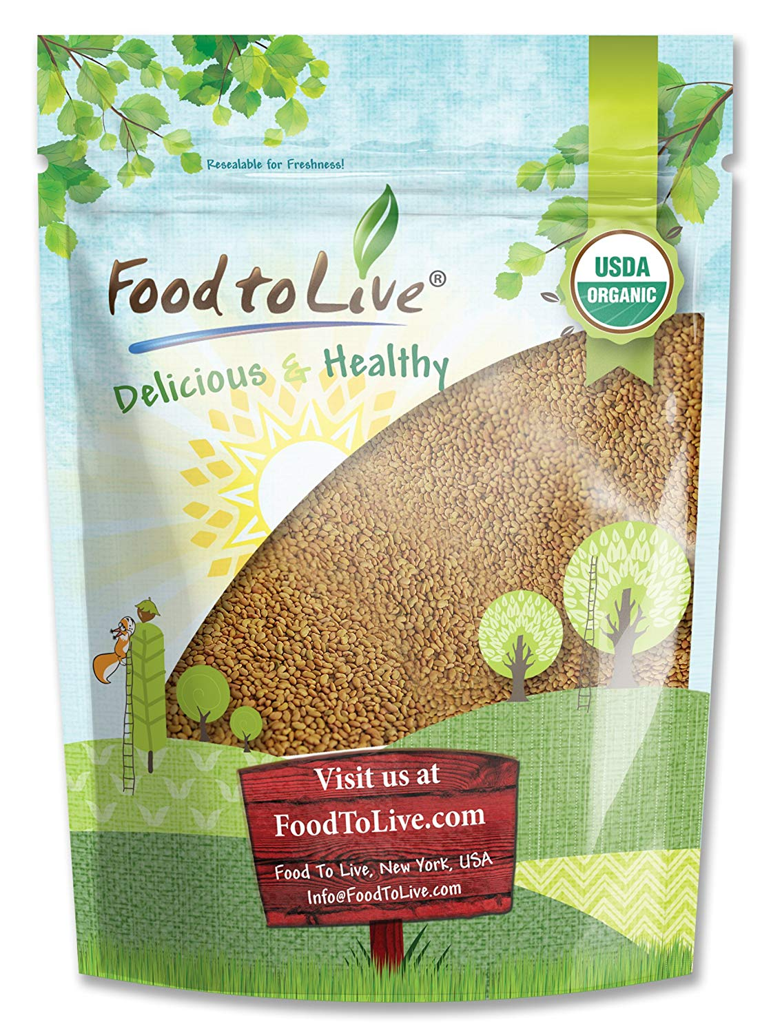 Food To Live Organic Alfalfa Sprouting Seeds (1 Pound)