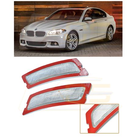 For 2012-2017 BMW F10 5-Series M-Sport Models EOS Factory Style CRYSTAL CLEAR Front Bumper Fender Reflector Side Marker Lights Turn Signal Lamps