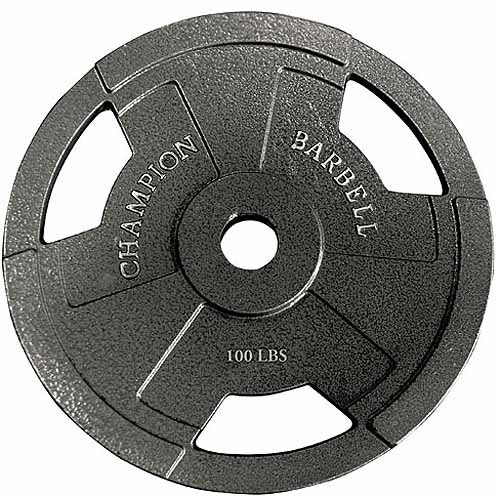 Champion 100-Pound Olympic Grip Plate