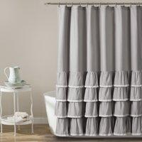 Ella Lace Ruffle Shower Curtain 72x72