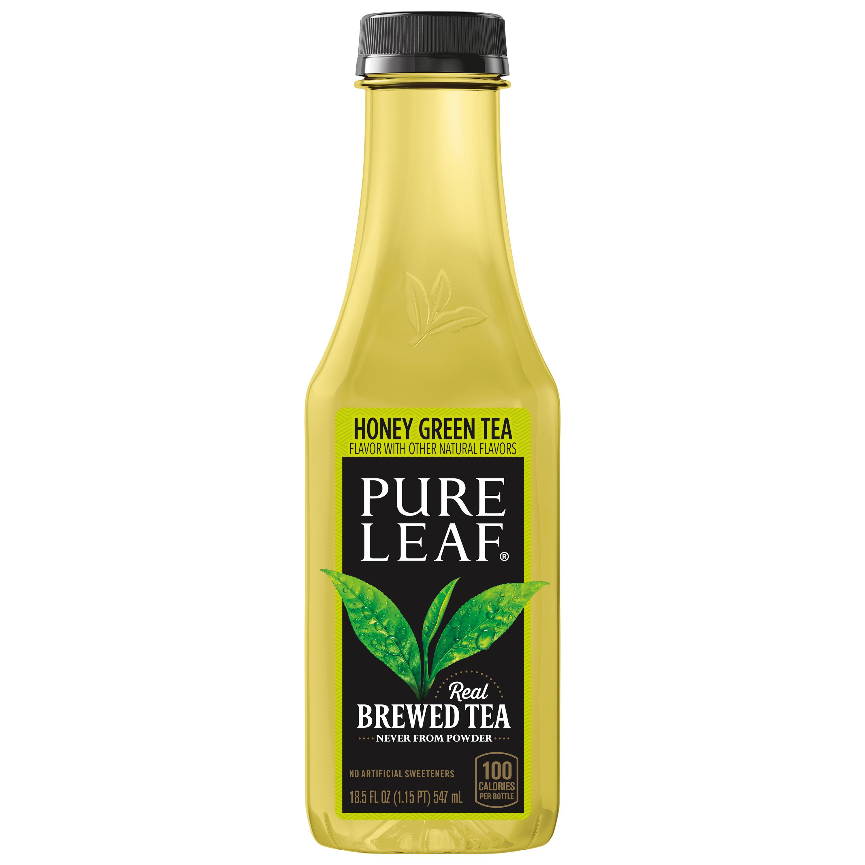 (12 Bottles) Pure Leaf Real Brewed Iced Tea, Not Too Sweet Honey Green Tea, 18.5 Fl Oz