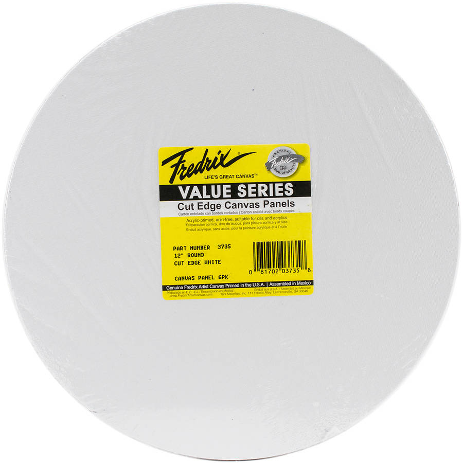 Tara Fredrix Round Cut Edge Canvas Panel, 6pk, 12""