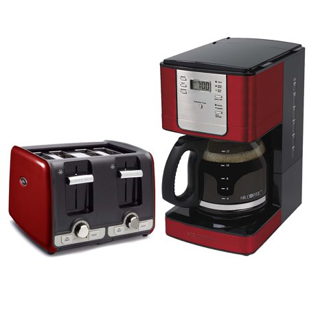 Oster Coffee Maker Troubleshooting : Oster 4 Slice Toaster with Extra Wide Slots + Mr. Coffee 12 Cup Coffee Maker - Walmart.com