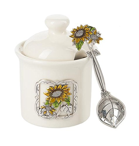 Ganz Condiment Jar with Spoon Serveware