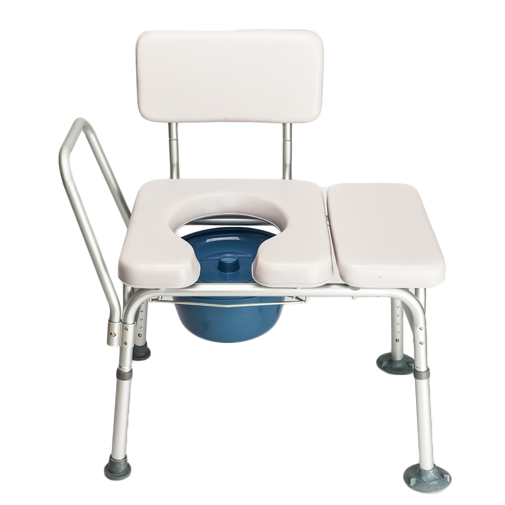 Ktaxon Commode Chair Bath Chair Multifunctional Aluminum Elder People Disabled People Pregnant Women Gray