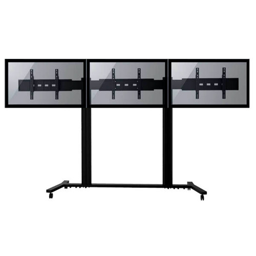 """TygerClaw Mobile TV Stand for Three 30""""-60"""" Flat Panel TV"""