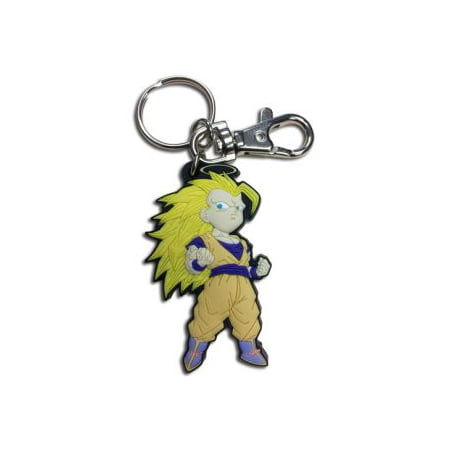 Key Chain - Dragon Ball Z - SD SS3 Goku PVC - Disco Ball Key Chain