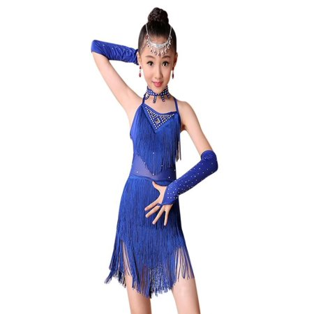 Outtop Toddler Kids Girls Latin Ballet Dress Party Dancewear Ballroom Dance Costumes