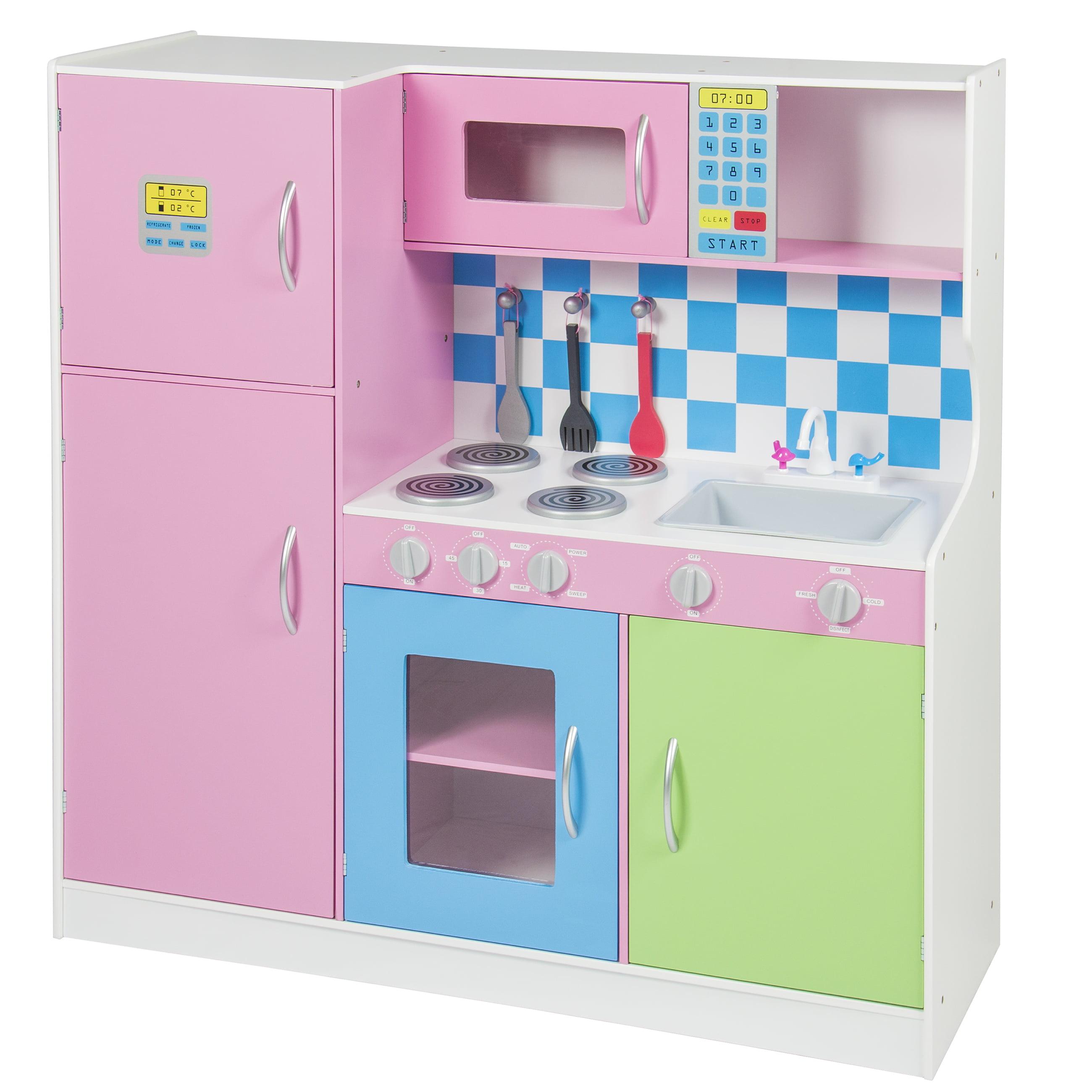 Best Choice Products Wooden Pretend Kitchen Playset W