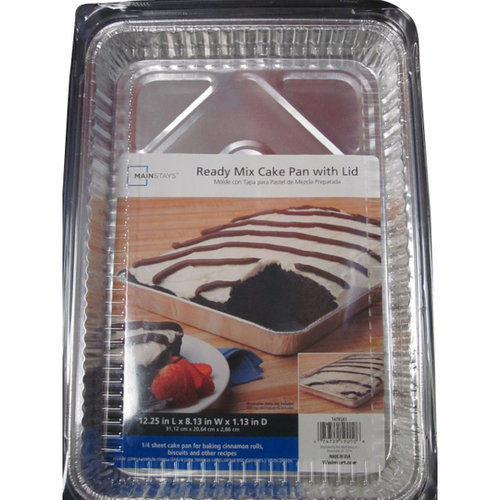 Mainstays Ready Mix Cake Pan with Lid by Durable Packaging