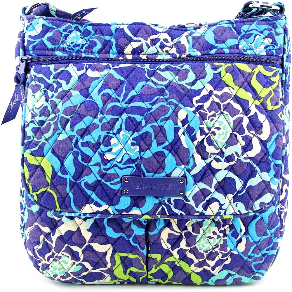 Vera Bradley Double Zip Mailbag Women   Canvas Blue Messe...