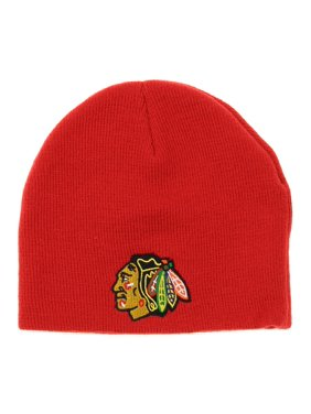 fd0e3409340 Product Image NHL Toddlers Chicago Blackhawks Face Off Skull Knit Beanie Hat