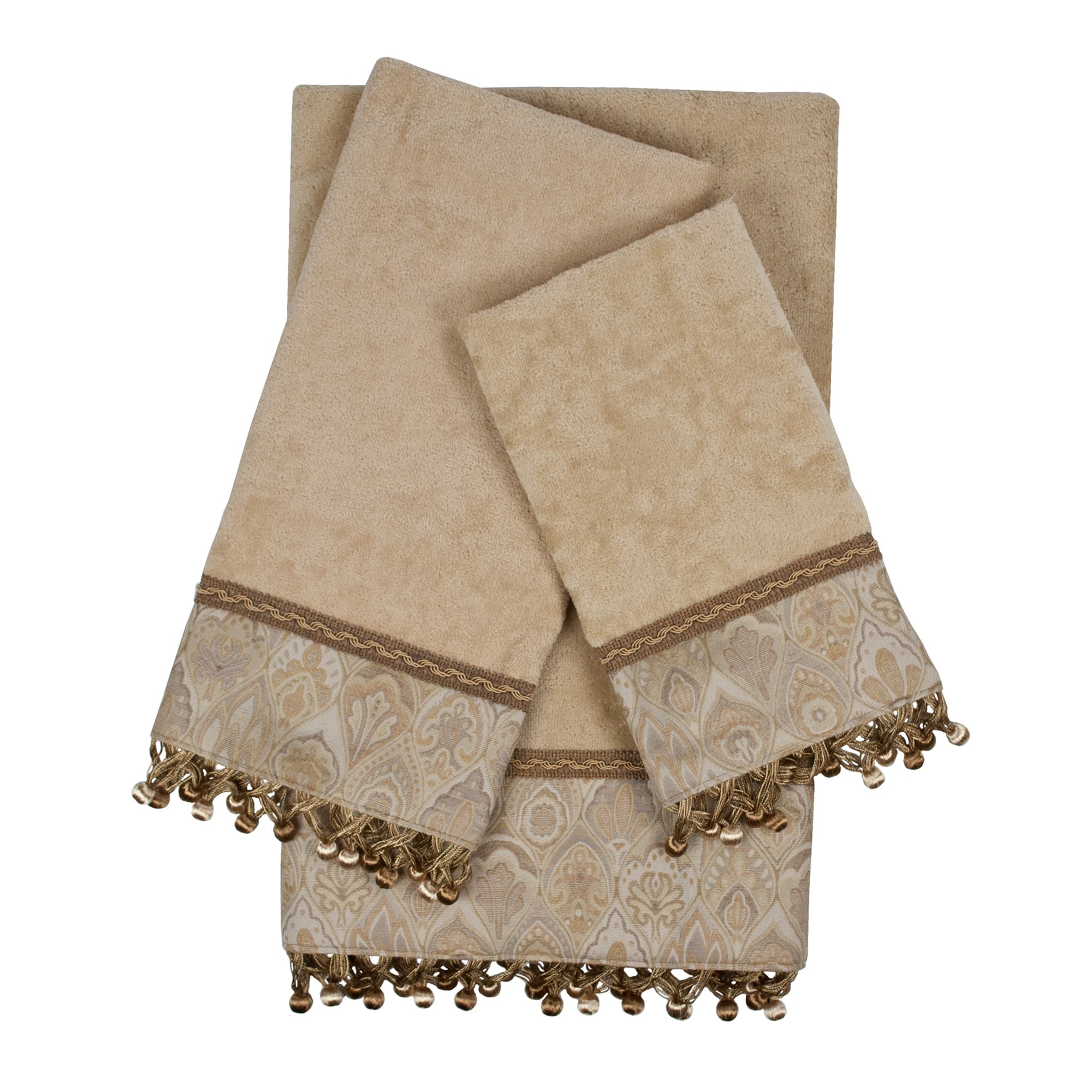 Sherry Kline  Mandalay Taupe Decorative Embellished Towel Set