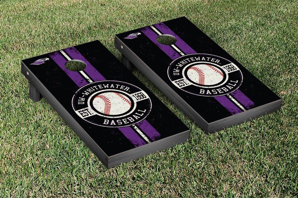 Wisconsin Whitewater Warhawks Regulation Cornhole Game Set Baseball Version by Victory Tailgate