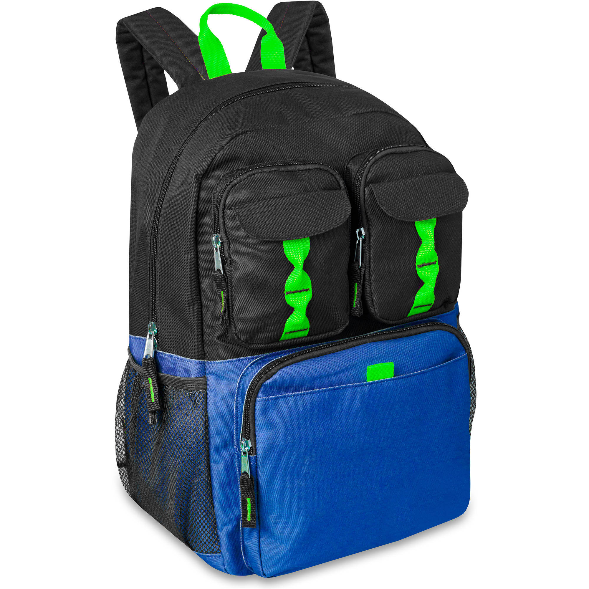 18 Inch Deluxe Quadruple Pocket Backpack