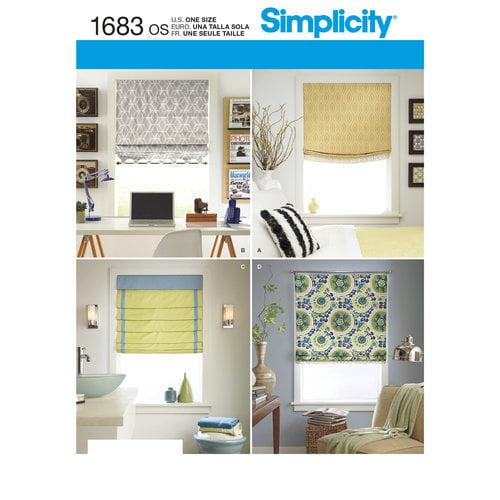simplicity crafts home decor roman shades walmart com