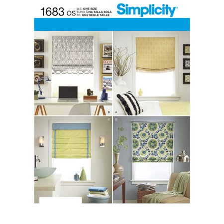 Simplicity crafts home decor roman shades for Home decorations walmart