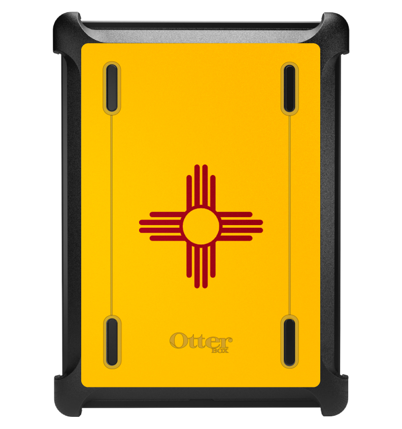 CUSTOM Black OtterBox Defender Series Case for Apple iPad Air 1 (2013 Model) - New Mexico State Flag