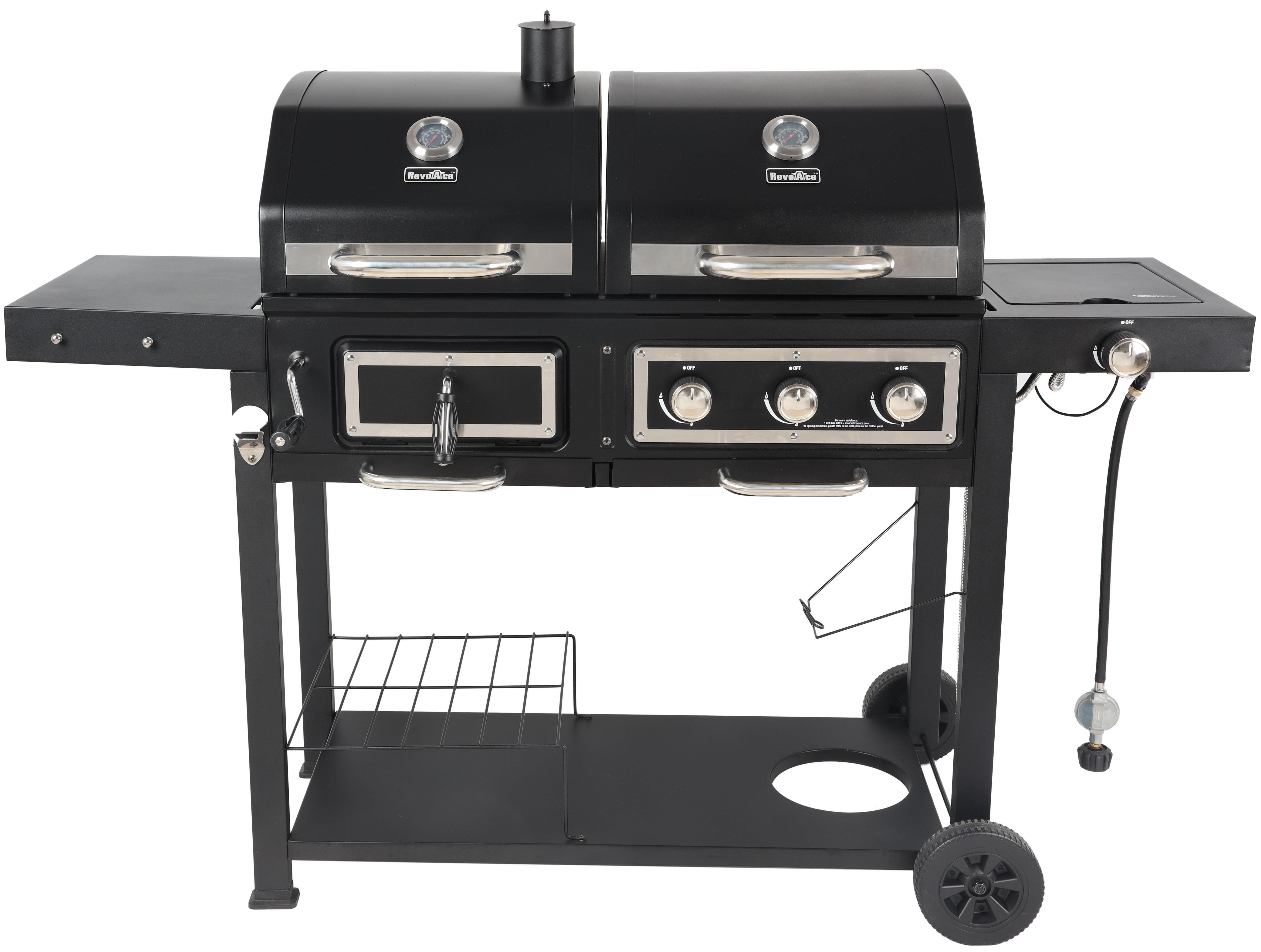 Revoace Dual Fuel Gas Charcoal Combo Grill