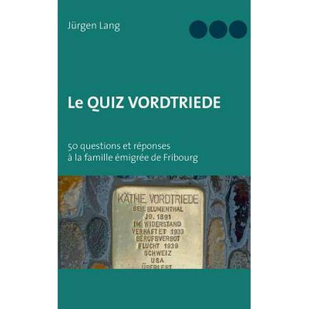 Le Quiz Vordtriede - Le Quiz D'halloween