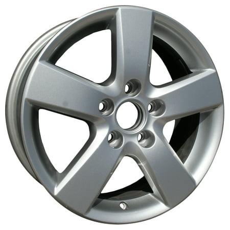 Alloy Wheel Silver Face (2008-2010 Volkswagen Jetta  16x6.5 Alloy Wheel, Rim Medium Silver Sparkle Full Face Painted - 69872 )