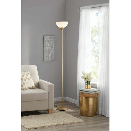 Mainstays 71 Quot Metal Floor Lamp Gold Walmart Com Walmart Com