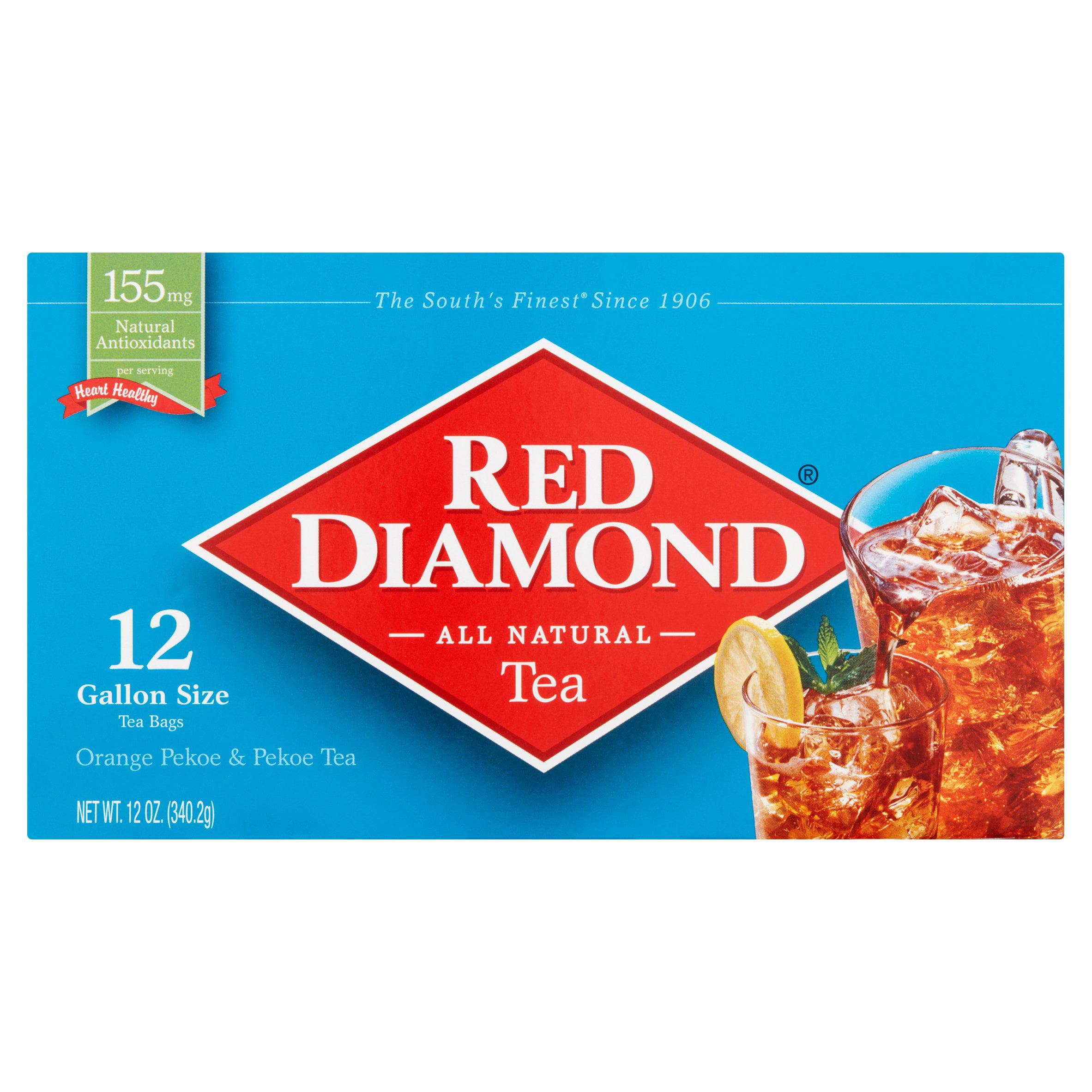 Red Diamond Orange Pekoe Gallon Size Tea Bags 12 Count Oz Com