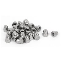M5 Thread Dia 304 Stainless Steel Dome Shape Head Cap Acorn Hex Nut 25pcs