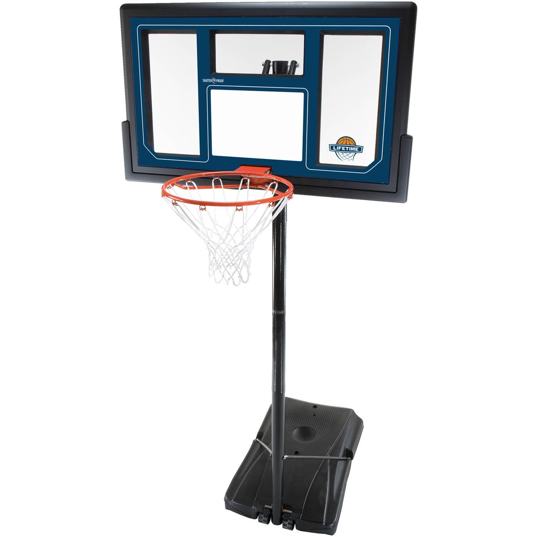 "Lifetime 50"" Shatterproof Portable One Hand Height Adjustable Basketball System, 1529"