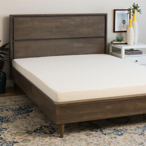 Select Luxury  Medium Firm 7-inch King-size Memory Foam Mattress - WHITE