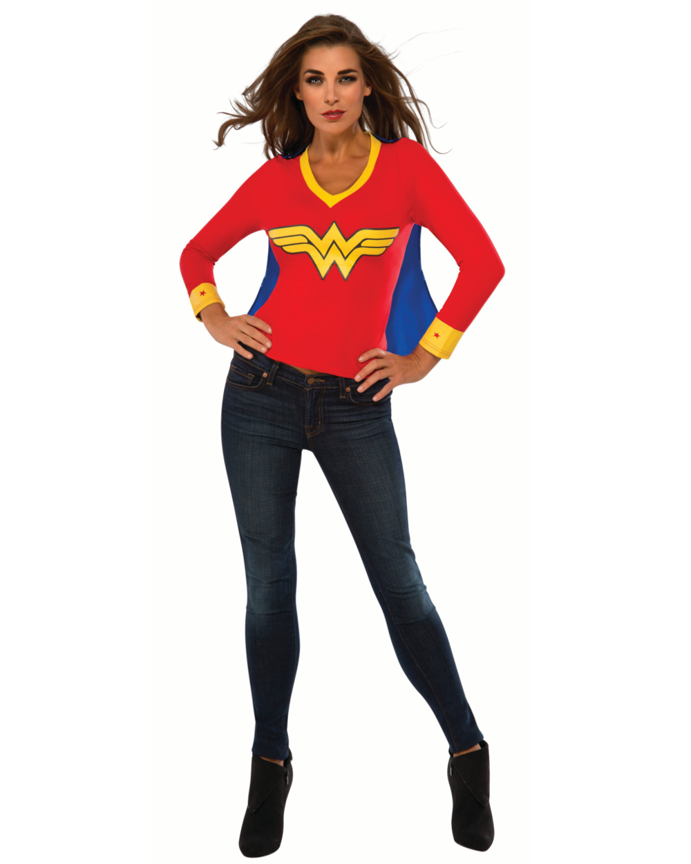sc 1 st  Walmart & Womens Wonder Woman Sporty Tee Halloween Costume - Walmart.com