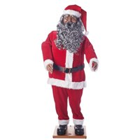 product image holiday time life size animated santa african america - African American Outdoor Christmas Decorations