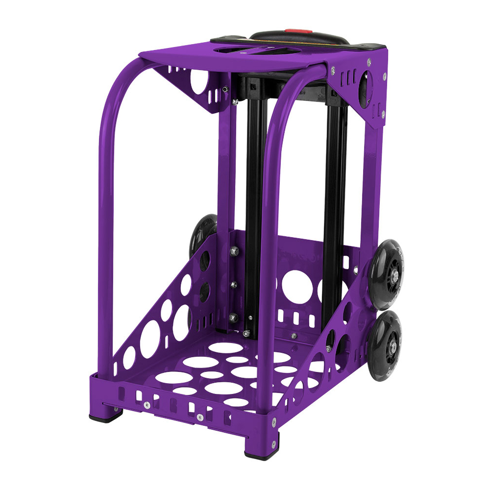 Zuca Purple Sport Frame with Flashing Wheels, Insert Bags Sold Separately