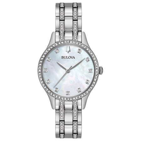 Bulova Women's Crystal Watch Box Set with Bangle Bracelets