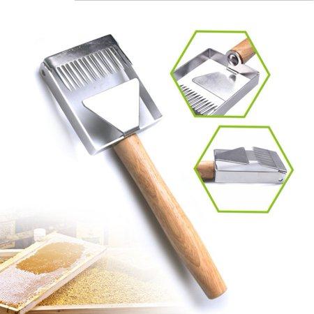 Honey Uncapping Fork Scraper Knife Food Degree New Designed Stainless Steel Honey Uncapping Tool ()
