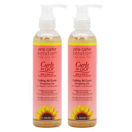 Jane Carter Curls To Go Coiling All Curls Elongating Gel 8Oz   237Ml  Pack Of 2