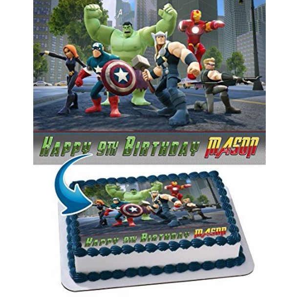 Super Lego Marvels Super Heroes Avengers Edible Cake Topper Funny Birthday Cards Online Elaedamsfinfo