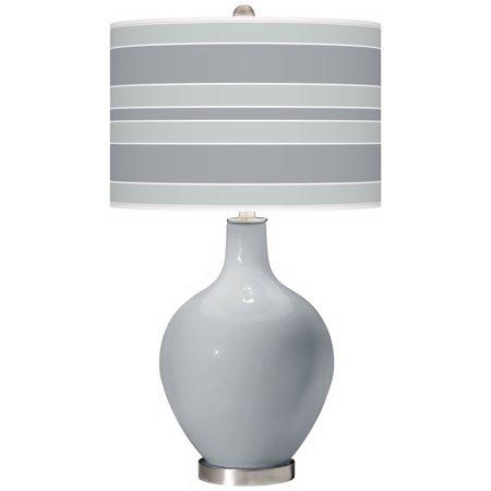 Color + Plus Uncertain Gray Bold Stripe Ovo Table Lamp