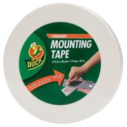 Duck Brand Permanent Foam Mounting Tape, Double-Sided, 0.75-Inch x 36 Yards, Single Roll, White (1289275)