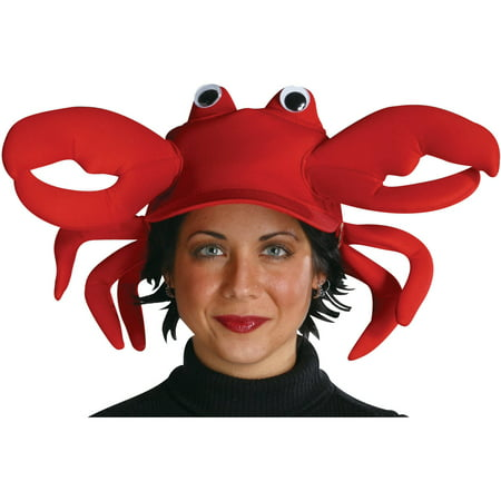 Crab Cap Halloween Costume Accessory - Adult Crab Costume