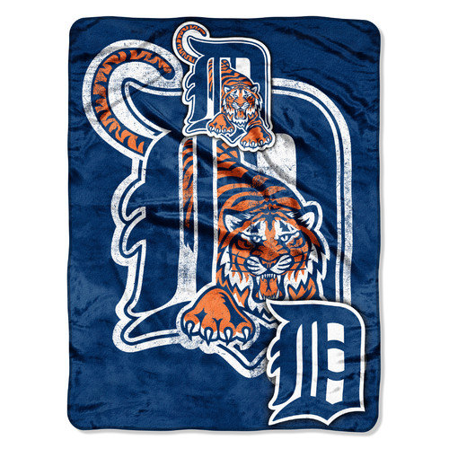 Northwest Co. MLB Detroit Tigers Polyester Micro Raschel Throw Blanket