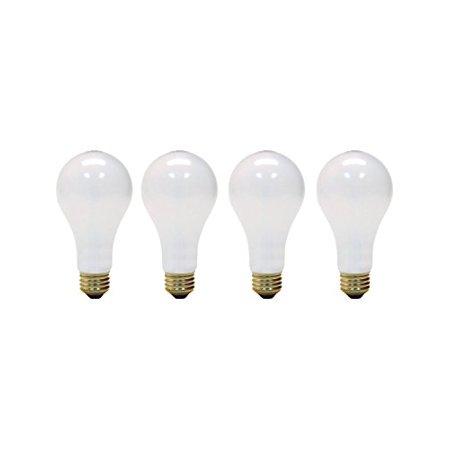 (4 Pack) 3-Way 30/70/100 Watt Incandescent A21 Standard Medium Base Light Bulb, Soft White 30/100