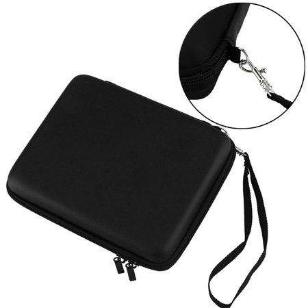 Portable Hard Storage Carrying Case Bag with Card Slots Zipper Protective Shell Black