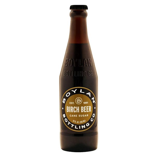 Boylan's Soda Birch Beer 12 Oz Glass Bottles Pack of 12