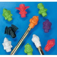 Fun Express Halloween Pencil Top Erasers Party Favors - 12 Dozen